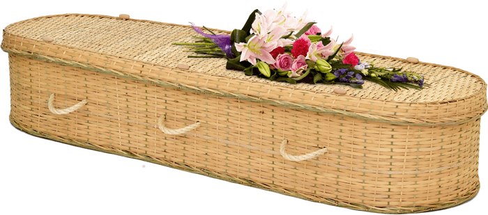 Rounded Bamboo Coffin